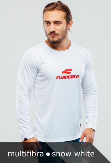 фотография спортивной белой футболки Flyingbro