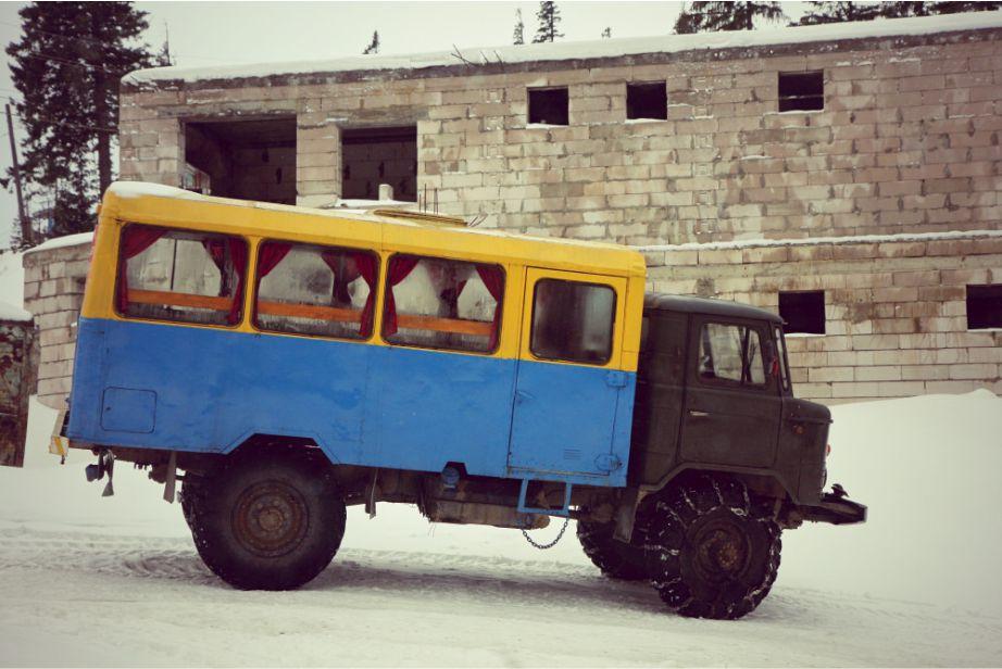 экстремальное такси на Драгобрат ГАЗ 66 фото