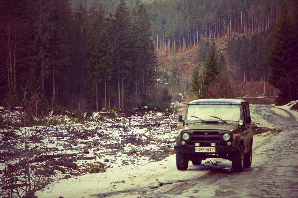 такси на Драгобрат УАЗ фото