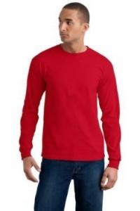 фото футболки лонгслив красного цвета