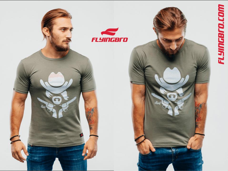 фото мужской футболки клинт цвета хаки