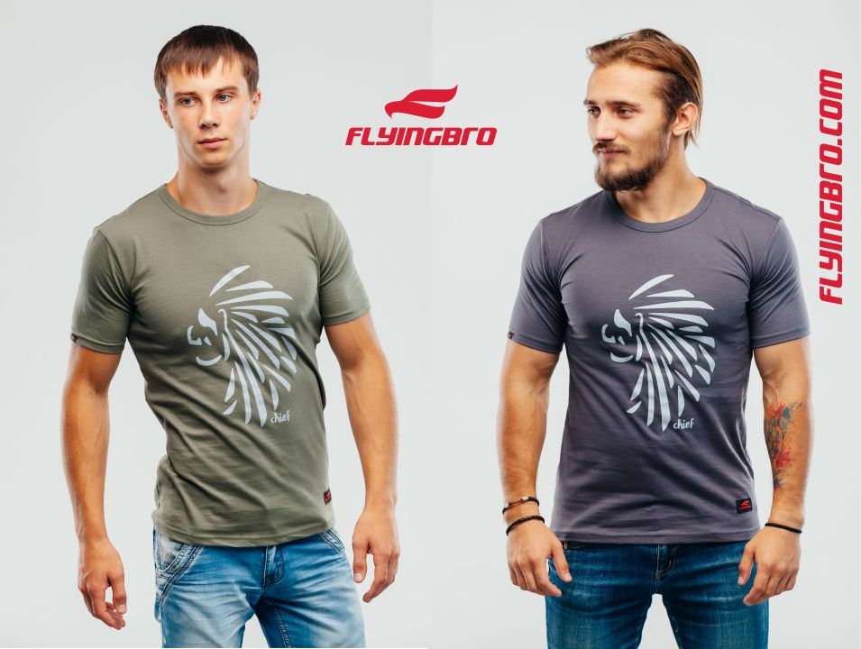 фото футболки с принтом Flyingbro купить Киев Украина