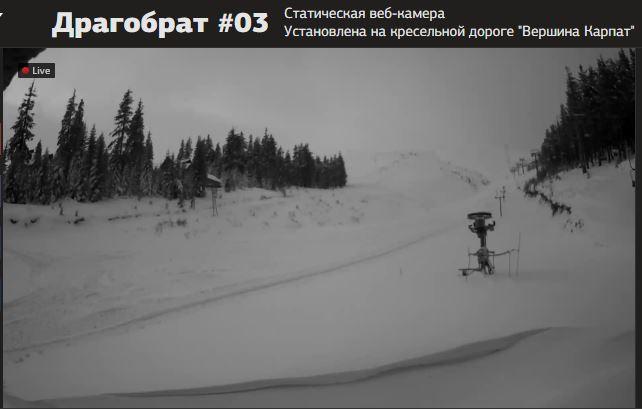 снег на Драгобрате сегодня фото