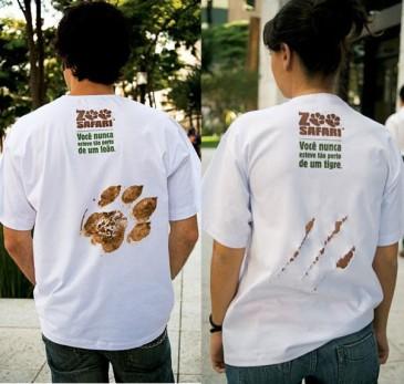 фото рекламы на футболках