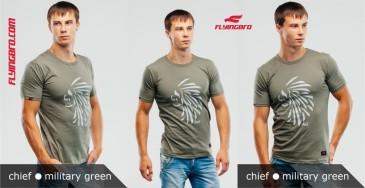 фото футболка хаки милитари мужская Flyingbro military chief