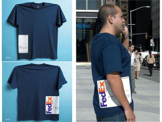 фото рекламы Fedex на футболках