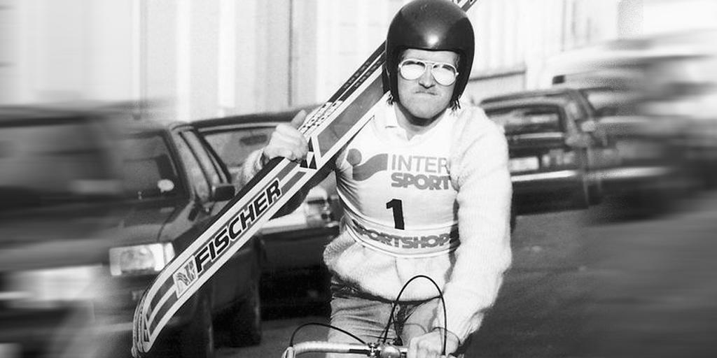 Эдди Орел на велосипеде