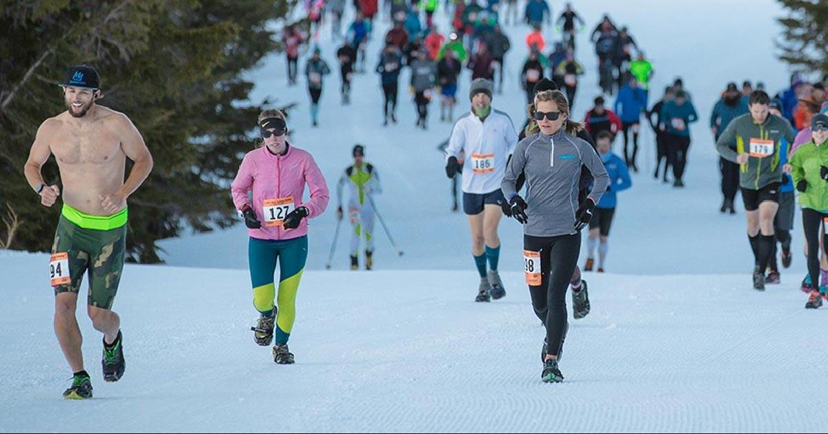 зимний бег марафон