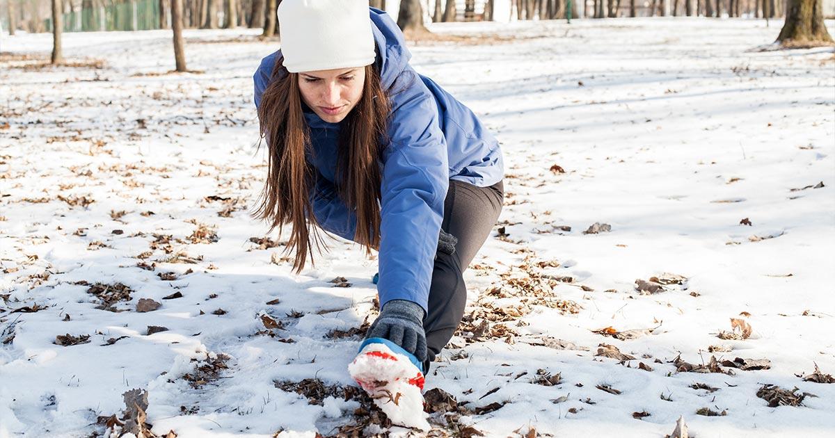 расстояние для бега зимой
